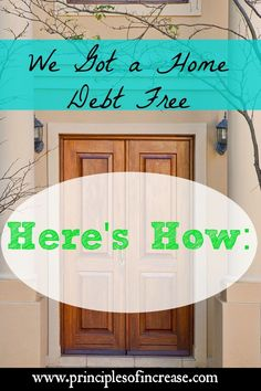 Do you think you can get a home debt free? It is possible! Find out how we did it. Debt Payoff Tips, #Debt