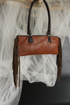 hand crafted leather bag by SuSu .... fun.funky.elegant.boho.