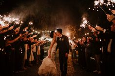Firework sendoff for the bride and groom // Fun wedding ideas