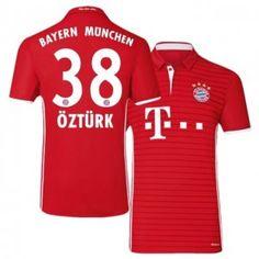 Bayern Munich Home 16-17 Season Red #38 Ozturk Soccer Jersey [I501]
