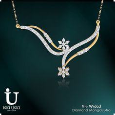 Buy diamond mangalsutras online from IskiUski.com at best prices in India!!