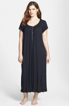 Nice... 'Radiant Spirit' Nightgown (Plus Size) at Nordstrom.com. Dainty crocheted trim details the sleeves and pintucked neckline of a cotton knit gown that falls to a swirling ruffled hem.