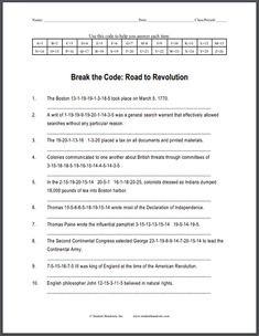 The five themes of geography poster social studies products and the road to revolution decipher the code puzzle worksheet is free to print fandeluxe Image collections