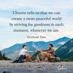 Goodness in each moment - Calm App Desmond Tutu, Great Quotes, Inspirational Quotes, Motivational, Calm App, Daily Calm, Healthy Mind And Body, Life Care, Marketing Tactics