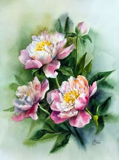 Lyn Knox's media content and analytics Silk Painting, Watercolour Painting, Watercolor Cards, Watercolor Flowers, Plant Drawing, Realistic Drawings, Art Floral, Botanical Art, Mosaic Art