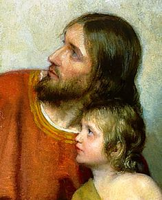 Christ with Children (detail) by Carl Bloch