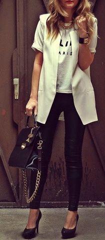 White Blazer Shaped Vest