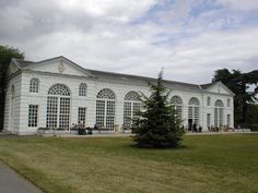 The orangery at the Royal Botanic Gardens, Kew, was designed in 1761 by Sir William Chambers and at one time was the largest glasshouse in England.[1