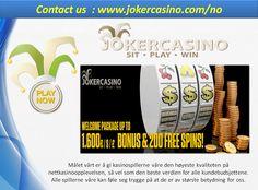 Thumbnail for direkte kasino, mobilkasino, casinospill Casino Bonus, Wordpress, Joker, Social Media, Create, The Joker, Social Networks, Jokers, Comedians