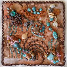 Bead Embroidery, Ancient Rythyms, by Katherine Brazzeal