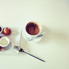 Cookies & Cream coffee and donut holes at LaMill
