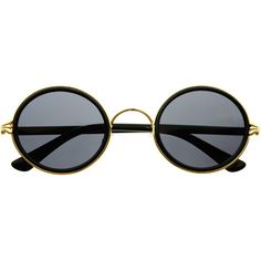 Retro Vintage Style Fashion Circle Round Sunglasses R3160 (13 AUD) ❤ liked on Polyvore