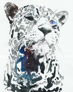 Watercolour Fashion Illustration - leopard. $300.00, via Etsy.