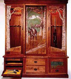 gun cabinet by Amber Jean