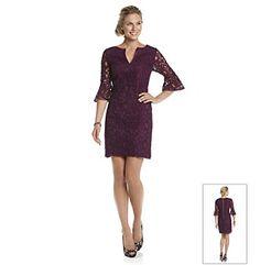 Adrianna Papell® Ruffle Cuff Lace Dress