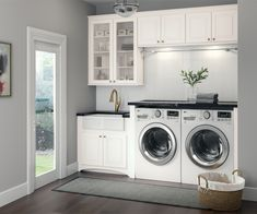 Cardell Kitchen Cabinets - Stubben in White Laundry Room