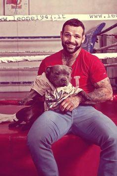 "First Italian MMA fighter into the UFC, Alessio ""Il Legionario"" Sakara, loving his pitty."