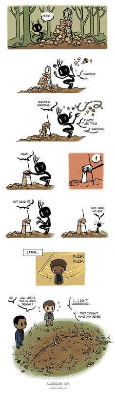 Pet Wendigo strip 16 - Shrooms by Algesiras.deviantart.com on @DeviantArt
