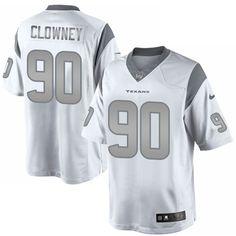 Nike Elite Jadeveon Clowney White Men s Jersey - Houston Texans  90 NFL  Platinum Football Jerseys 3af9dc02c
