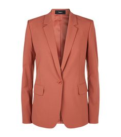 Essential Blazer in Pink Russet by Theory