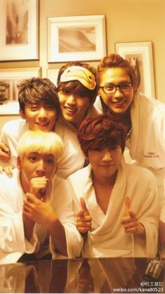 B1A4 ---how cute is Sandeul's eye mask?! ^_^