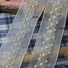 Double+Bridal+Headband+Wrapped+With+Pear - Diy Crafts - DIY & Crafts Tambour Beading, Tambour Embroidery, Couture Embroidery, Silk Ribbon Embroidery, Embroidery Fashion, Embroidery Patterns, Hand Embroidery, Beaded Trim, Beaded Lace