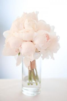 Pale pink peonies... Wedding ideas for brides, grooms, parents & planners ... https://itunes.apple.com/us/app/the-gold-wedding-planner/id498112599?ls=1=8 … plus how to organise an entire wedding, without overspending ♥ The Gold Wedding Planner iPhone App ♥