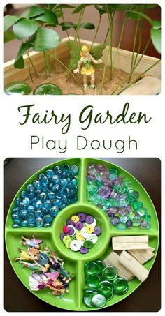 Fairy Garden Play Dough - a fun fine motor activity for kids during the spring.