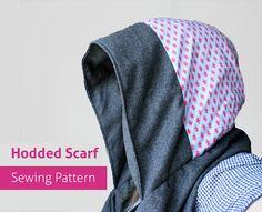 PDF Reversible Scoodie Hooded Scarf PDF Sewing Pattern - hoody diy hood patterns ebook scoody