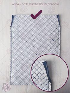 Tutorial de costura: Tula en acolchado. – Nocturno Design Blog Elegante Y Chic, Design Blog, Petunias, Pot Holders, Diy, Sari, Quilted Purse Patterns, Sewing Patterns, Fashion Handbags