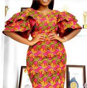 Women's Ruffle Sleeve Knee-Length Round Neck Print Dress - Name:Women's Ruffle Sleeve Knee-Length Round Neck Print DressCategory:Women/Women's Clothing/Women Dresses/Bodycon DressesMaterial:PolyesterSilhouette:PencilHemline:Knee- African Wear Dresses, Latest African Fashion Dresses, African Attire, African Style Clothing, Nigerian Clothing, Nigerian Dress Styles, Ankara Styles, Ankara Dress Designs, Red Off Shoulder Dress