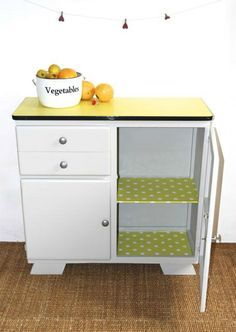 vintage formica | Buffet vintage- rétro jaune en formica. | Urban ...