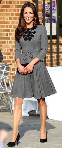 This lady knows how to dress. She's a fashion icon in her own right![Orla Kiely dress worn by Kate Middleton]