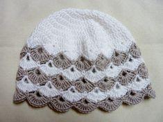 Materiál :na čiapku - 50 g ( 1 klbko ) priadze ELIAN NICKY alebo 50 g ( pol klbka ) priadze SERIN Veľkosť: obvod hlavy - 42-44 cm Háčik: č. 3, Crochet Baby Hats, Knitted Hats, Poncho, Beanie, Knitting, Fashion, Hat Crochet, Beanies, Caps Hats