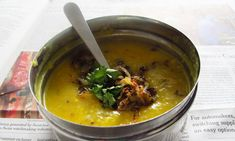 Dal. Simple and frugal food heaven. I could eat this every day. Might have to if this recession keeps up.