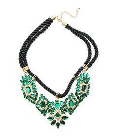 Emerald Constellation Bib Necklace