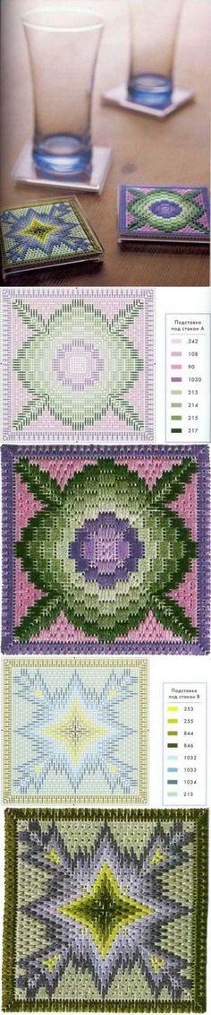 Флорентийская вышивка в технике барджелло