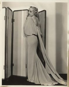 Carole Lombard, (for) No Man of Her Own, 1932 (gown by Travis Banton)