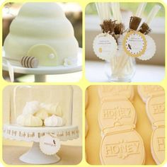Sweet BEE Themed Party Ideas....Like how soft this one is as opposed to the bright colored ones