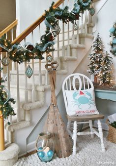 a coastal christmasland beach christmas decornautical - Nautical Christmas Decorations