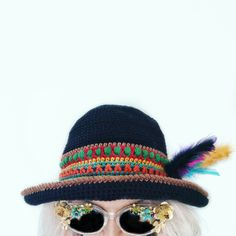 Free Colourful Festival Hat Tutorial!
