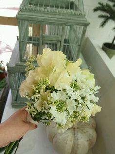 Sweet Pea + Scabiosa Bouquet