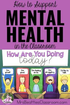 How To Support Mental Health in the Classroom Mental health in the classroom is a growing concern. Support your students' mental health needs with the tips in this bl. Mental Health In Schools, Mental Health Activities, Mental Health Check, Mental Health Awareness, Health Education, Teacher Education, High School Health Lessons, Relaxation Activities, School Tips