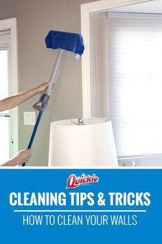 What is a wall but a floor turned sideways? For best results, take a Quickie® Microfiber mop, cover with a microfiber cloth, and clean side to side in overlapping swaths until you reach the top.