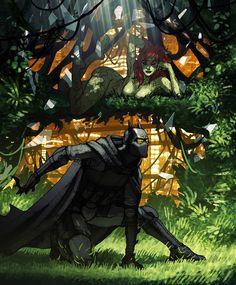 Batman and Poison Ivy by Matt Rhodes