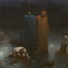 Gustave Doré - Dante and Virgil in the Ninth Circle of Hell (detail) (1861)