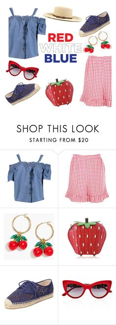 """""""Fourth of July"""" by keepfashion92 ❤ liked on Polyvore featuring Boohoo, J.Crew, Vince Camuto, Dolce&Gabbana and Armitage Avenue"""