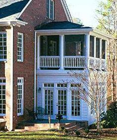 Porch ~ upper screened-in + lower sunroom