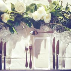 Table setting at Laurance x