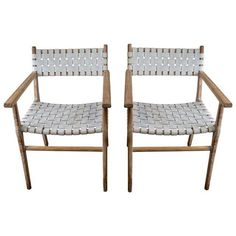Image of Danish Modern Styled Side Chairs - A Pair